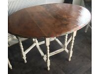 Solid Oak , Kitchen shabby chic table.