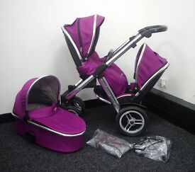BabyStyle Oyster MAX - Double - Grape Travel System