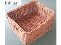 Wicker Baskets Habitat M&S Marks & Spencer Toy Log Laundry Linen Storage Tufnell Park