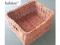 Wicker Baskets Habitat M&S Marks & Spencer Toy Log Laundry Linen Storage Tufnell Park