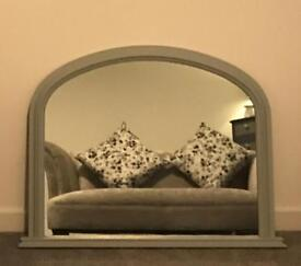 Morris furniture large grey mirror