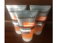 3x NEW L'oreal Men Expert Hydra Energetic Ice Cool Face Wash
