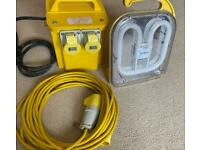 110v transformer, light and extension cable