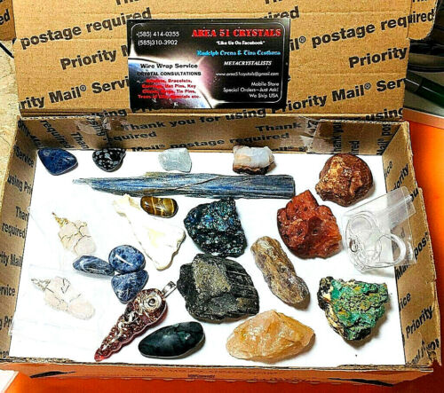 Junk Drawer Lot #A02 Natural Stones etc.