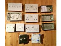 Joblot - Various household plug sockets & light switches - DIY Building Fittings Electric