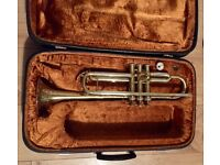 B&S Trumpet with mouthpiece and case