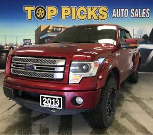 2013 Ford F-150 Limited, V6, Leather, Nav, Sunroof, 22's!