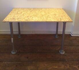 Industrial scaffolding aluminium osb3 desk table 4x