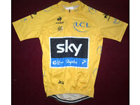 Team SKY Tour de france winner Chris Froome racing cycling leaders yellow jersey - BNWT