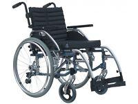 Van Os Excel G5 Modular Lightweight Manual Wheelchair Black/Silver