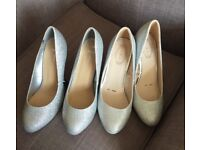 X2 pairs sparkly size 5 heels