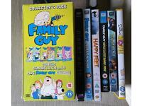 Selection of dvds and blu rays