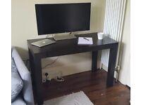 West Elm Parsons Desk in Dark Brown
