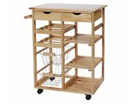 kitchen trolley and wine rack