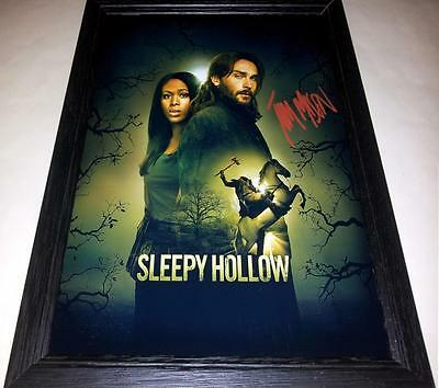 "SLEEPY HOLLOW SIGNED & FRAMED 12""X8"" POSTER TV SERIES TOM MISON"