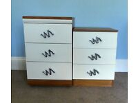 2 Separate Chest of Drawers / Bedside Cabinets both with three drawers