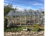 Large 3.2M x 5M Greenhouse and spare glass