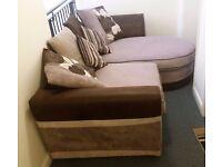 Sofa - Reversible right or left corner fabric sofa