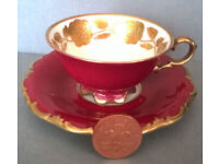bavaria gold roses teacup and saucer