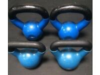 2x7.5Kg & 2x4.5Kg Steel Kettlebells
