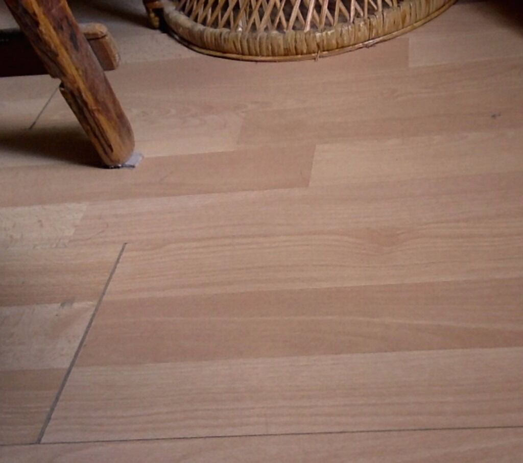 Homebase Baltimore Beech Glueless Laminate Two Packages X 2 66 M2