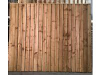 Heavy duty feather edge fence panels