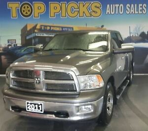 2011 Dodge Ram 1500 BIG HORN, 4X4, BUCKETS AND CONSOLE, BACK UP