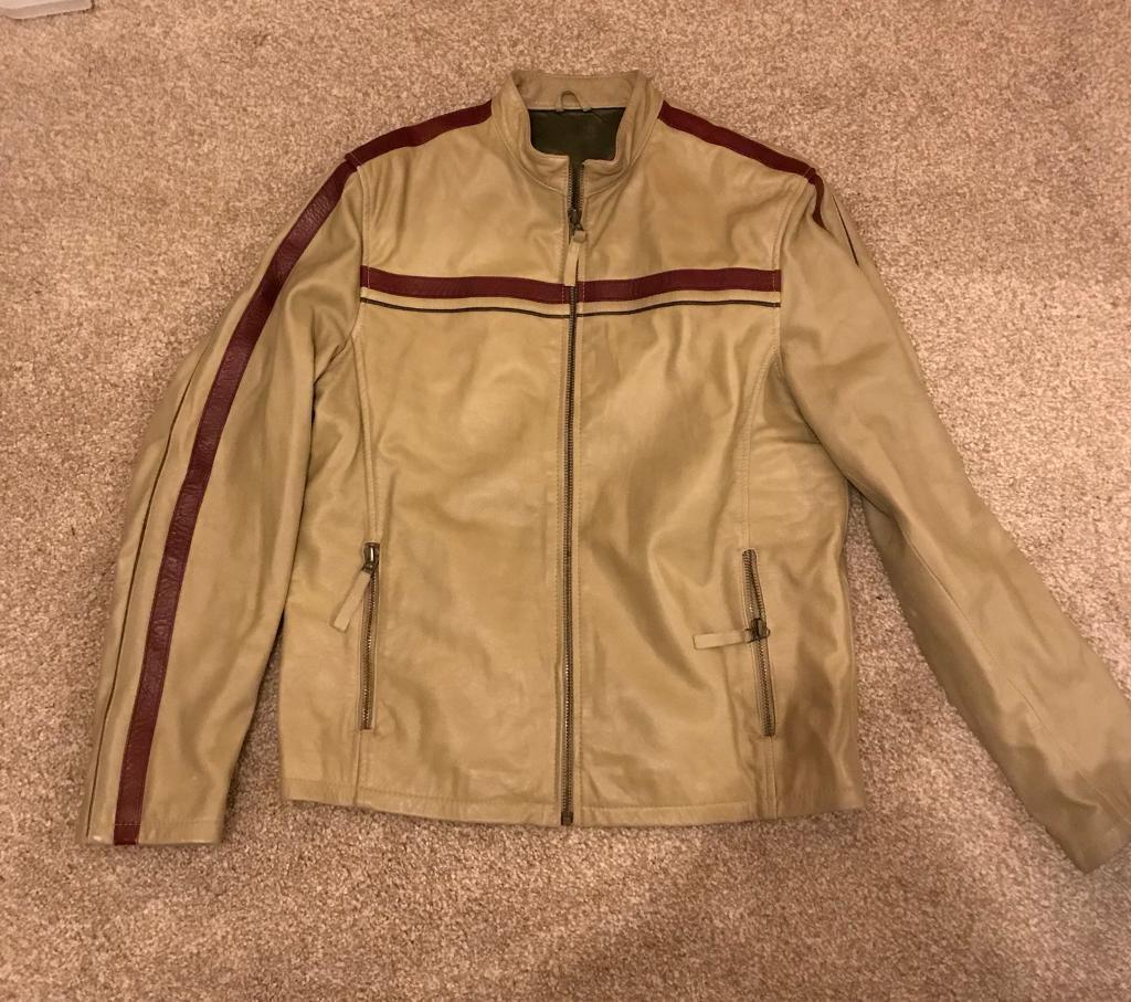 Men's river island leather jacket