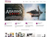 Live Online Business For Sale   MoviePosterArt Dropshipping Site