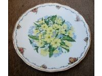 SET OF 9 QUEEN MOTHERS FAVOURITE FLOWER PLATES COLLECTORS ITEMS )