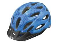 NEW HELMET (1771) ABUS LIGHTWEIGHT HELMET+RED LIGHT ADULT YOUTH CYCLING BIKE BICYCLE Size: 56-62 cm