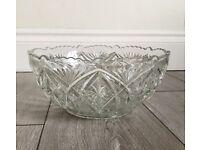 Heavy Glass Fruit Bowl