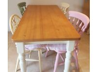 Shabby Chic/cottage style Solid Pine Kitchen Table