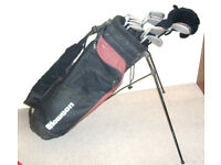 Men right hand clubs Hippo woods Howson irons putter stand bag trolley balls tees Ideal starter set
