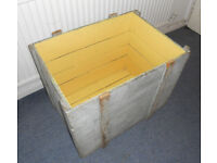 Large Painted Pine Packing Case - Toy Chest - Log Box - Coffee Table - Seat