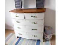 Chest of drawers, painted in grey