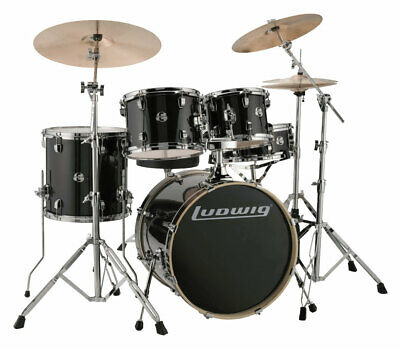 Ludwig Evolution Fusion 1 Shellset Black Sparkle Pappel Schlagzeug 5-tlg.