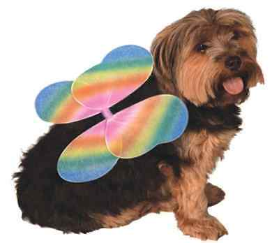 Fairy Wings Angel Pixie Fancy Dress Halloween Pet Dog Cat Costume 4 COLORS (Fairy Halloween Costumes For Dogs)