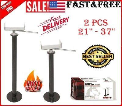 2 Pack Camper Stabilizer Slide Out Adjustable Lift Wheel Jack Travel Trailer RV for sale  USA