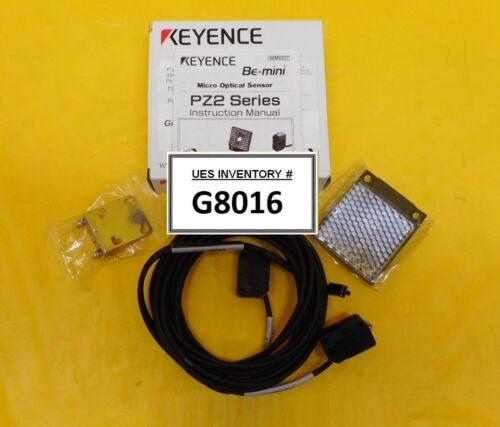 Keyence PZ2-61 Micro Optical Sensor Square Retro-Reflective ASM 02-333658D01 New