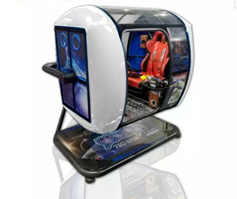 Full Motion Arcade Flight Simulator 720 Degree Racing Arcade Gaming SEE VIDEO