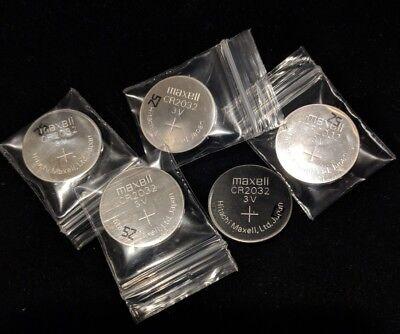 10  Maxell CR2032 3V Lithium Coin Cell Batteries- BULK - Cr2032 Batteries Bulk