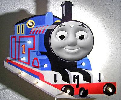 Thomas Beleuchtung Wand (Wandlampe Thomas die Lokomotive - Motiv1 - Kinderlampe aus Holz)