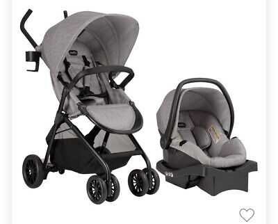 Evenflo Sibby Travel System With Litemax 35 Infant Car Seat - Mineral Gray New