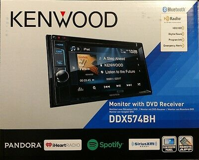 Kenwood DDX574BH Monitor with DVD Receiver CD/AUX/USB/BT/SiriusXM/HD Radio