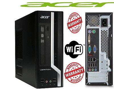 ACER CORE I3   8GB 500GB DVD Fast Win10 Pro 64 bit Desktop PC Computer Base-1