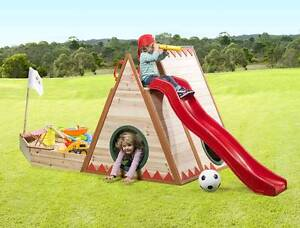 Teepee Cubby House with Slide and Sandpit Springwood Logan Area Preview