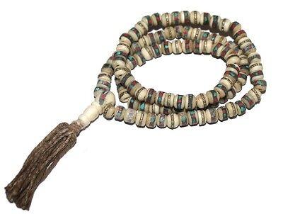 Small Tibetan Prayer beads Gypsy Necklace Prayer Mala Necklace Tribal Necklace A