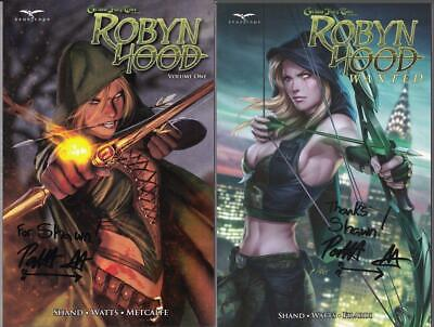 - ROBYN HOOD Vol. 1 & 2 TPB SIGNED by PAT SHAND Grimm Fairy Tales 1st Prints!