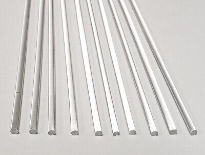10 Clear Acrylic Plexiglass Lucite Rod 18 .125 Diameter 12 Long Free Ship